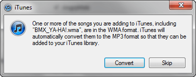 Convert WMA to MP3 with iTunes