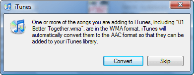 Convert WMA to AAC
