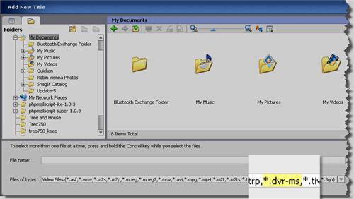 Burn Windows Media Center Files to DVD