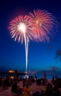fireworks photograph by DenGuy via iStockPhoto.com