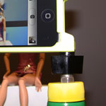 Finished DIY iPhone Bottle Cap Tripod