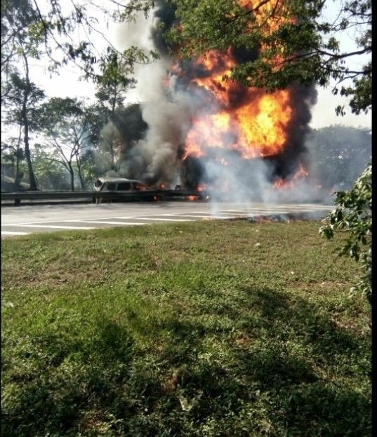 Pertamina Fuel Truck Explodes In Road Accident One Dead National The Jakarta Post