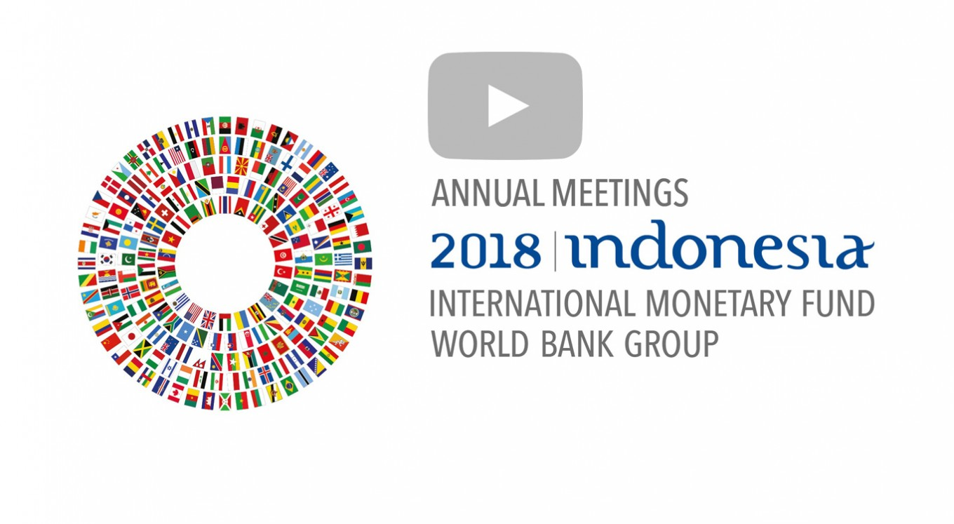 hight resolution of video 2018 imf world bank annual meetings daily updates saturday october 13 the jakarta post