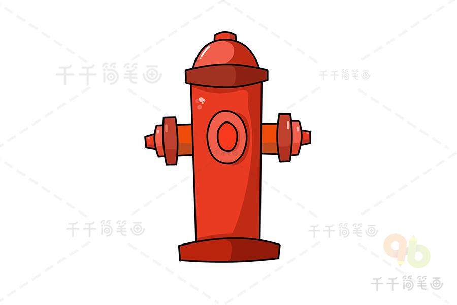 消防栓簡筆畫 親子畫畫_交通標志簡筆畫