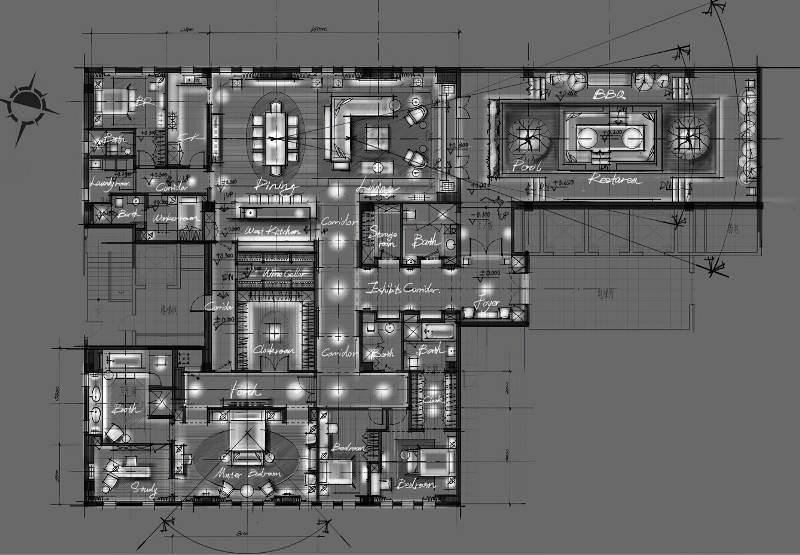 040建築設計師手稿作品