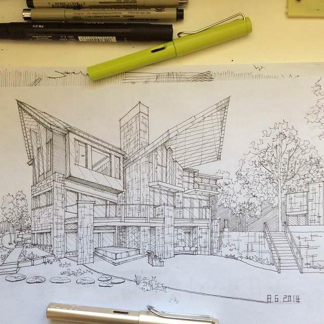 050建築設計師手稿作品
