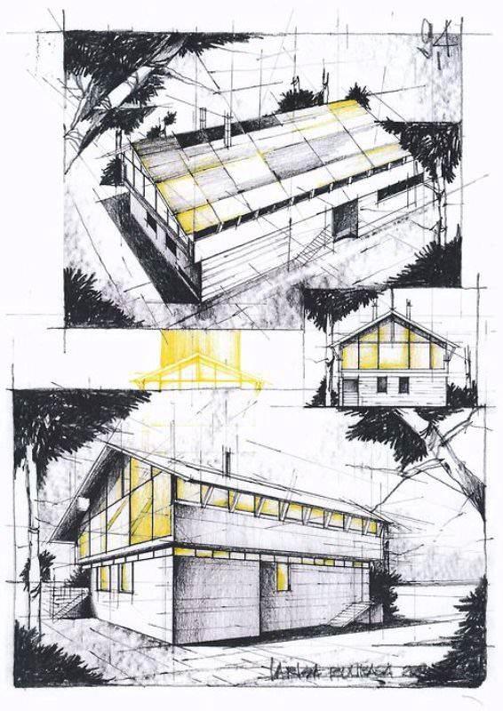 067建築設計師手稿作品