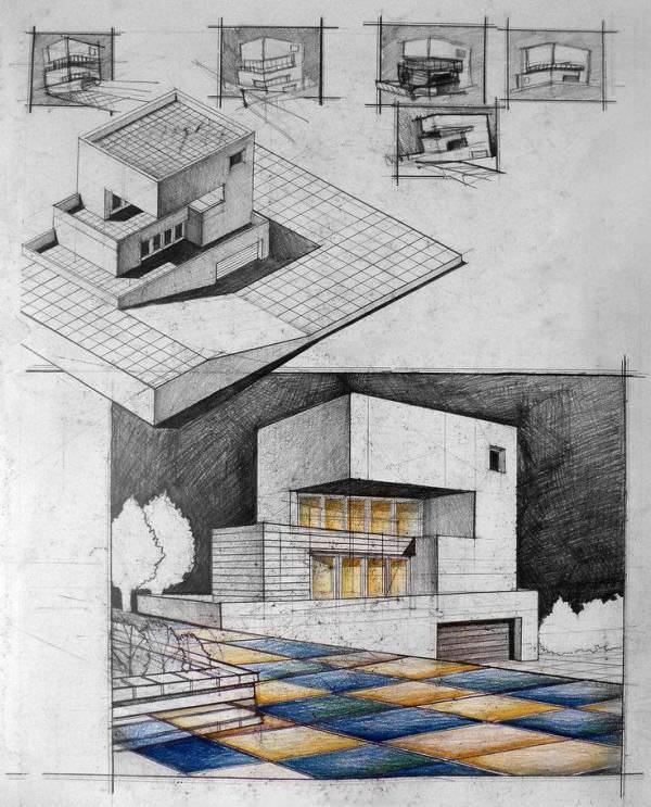 074建築設計師手稿作品