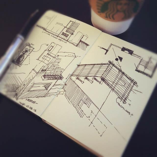 080建築設計師手稿作品