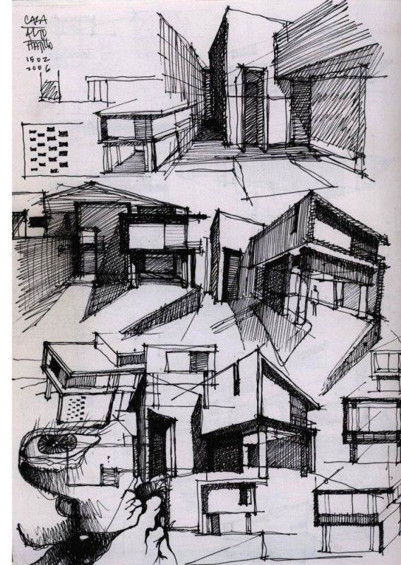 082建築設計師手稿作品