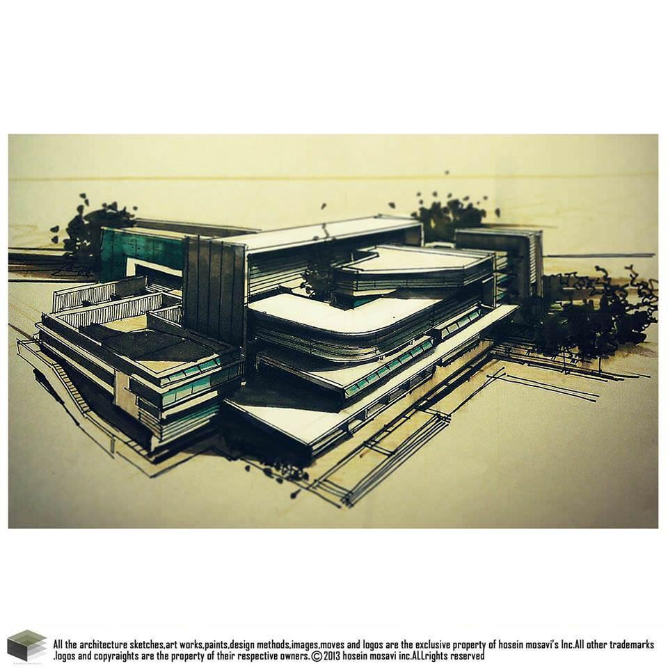 096建築設計師手稿作品