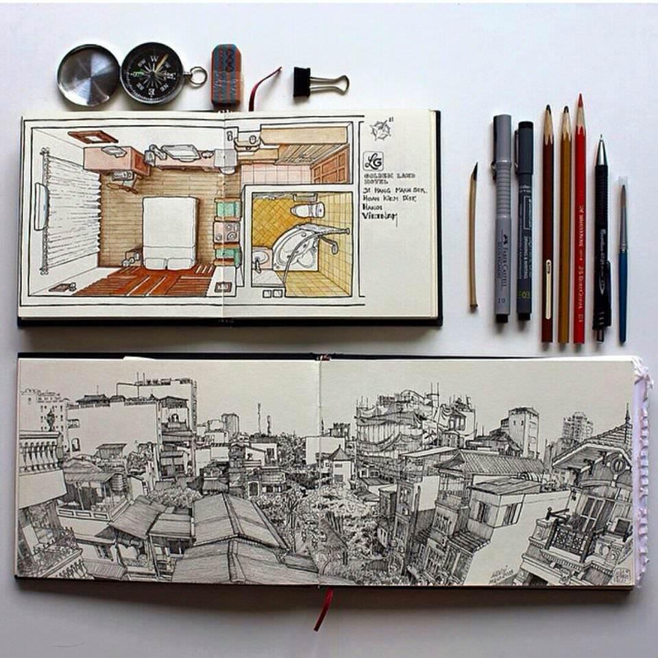 104建築設計師手稿作品