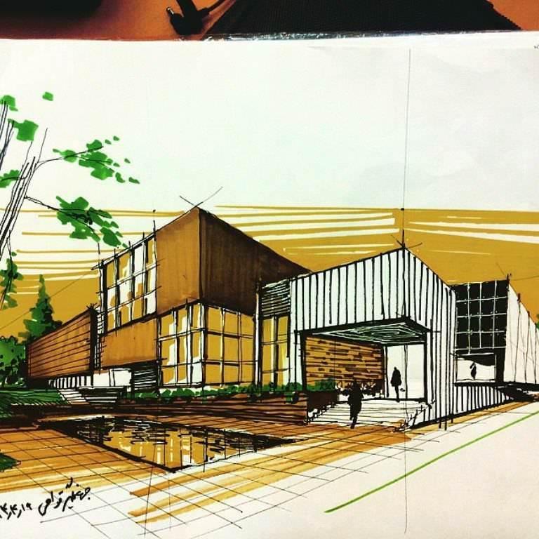 123建築設計師手稿作品