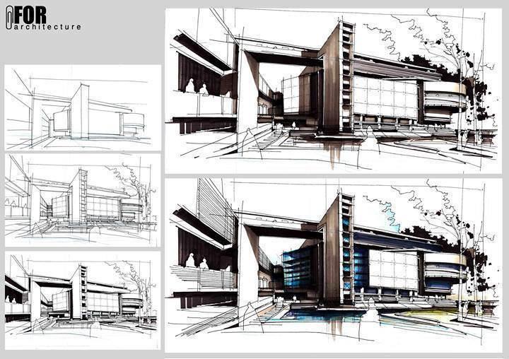 124建築設計師手稿作品