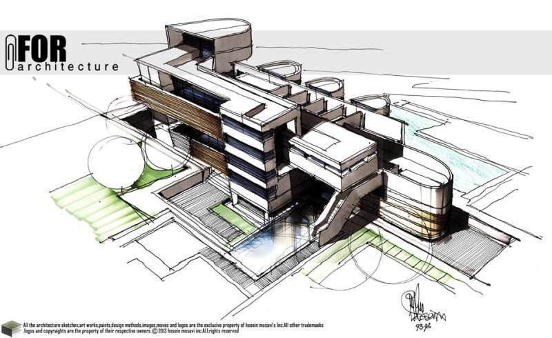 130建築設計師手稿作品