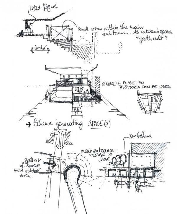 145建築設計師手稿作品