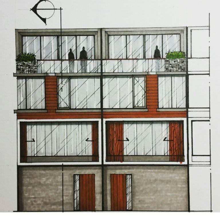 151建築設計師手稿作品