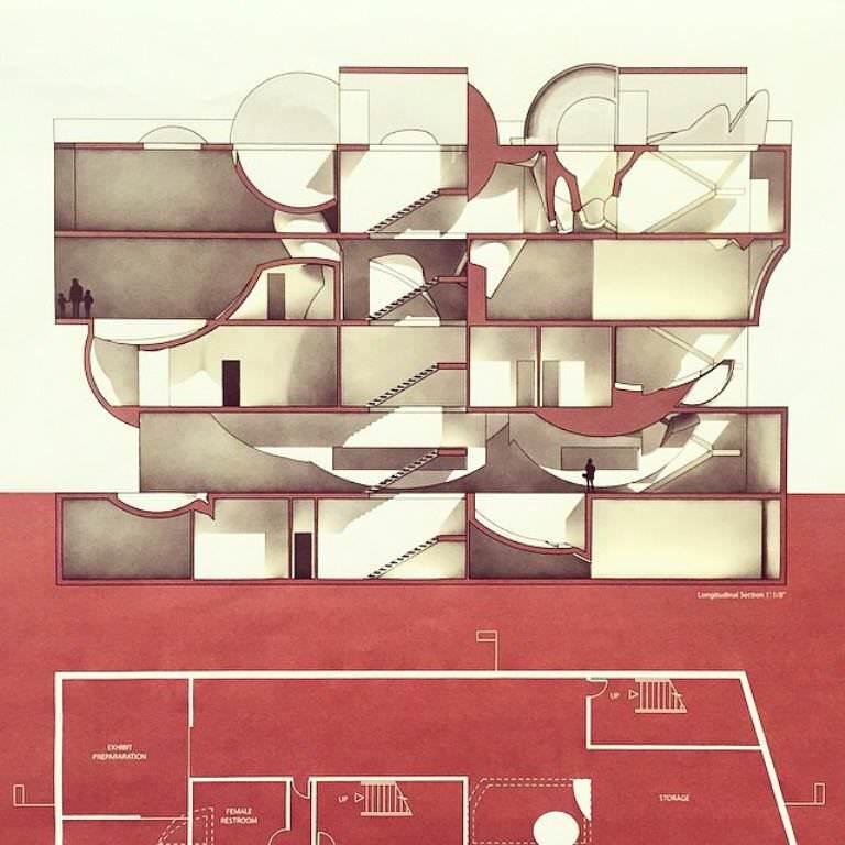 226建築設計師手稿作品