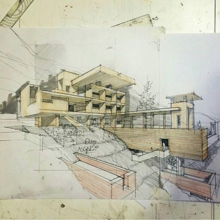 250建築設計師手稿作品