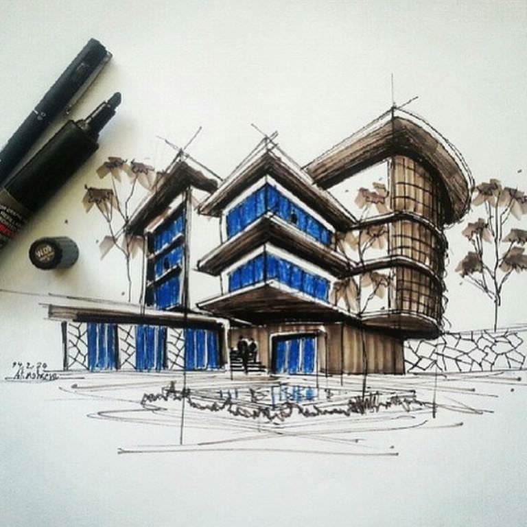 265建築設計師手稿作品