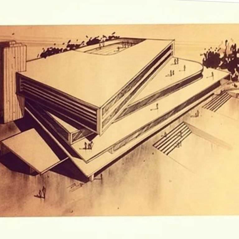 267建築設計師手稿作品