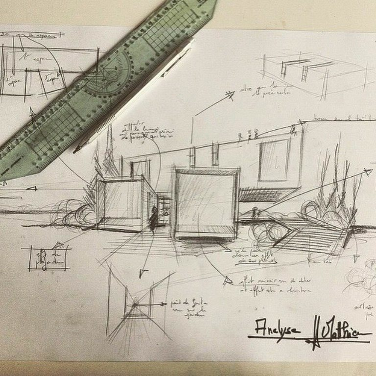 292建築設計師手稿作品