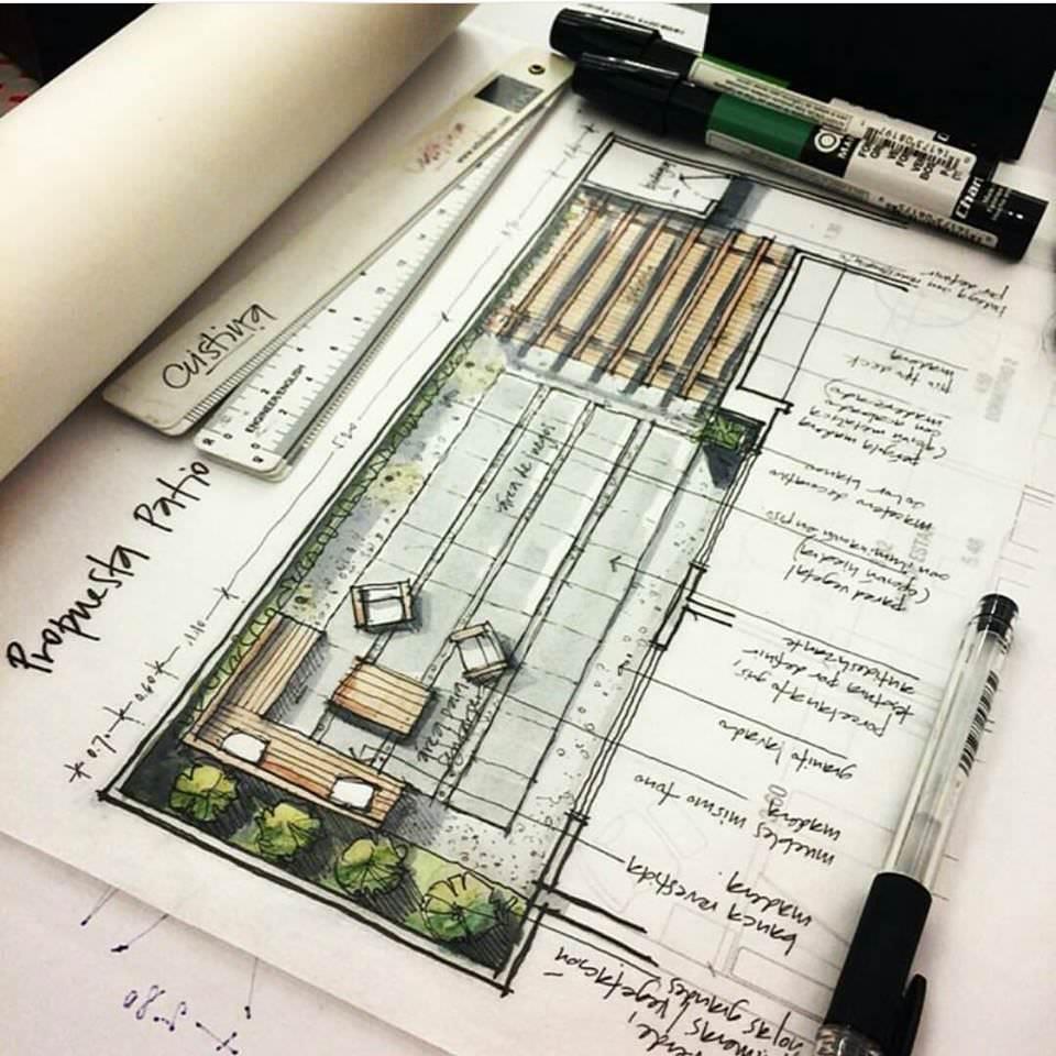 306建築設計師手稿作品