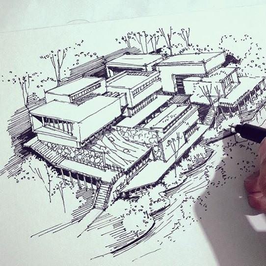 341建築設計師手稿作品