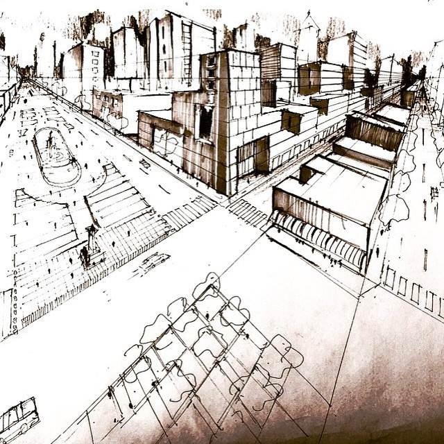 342建築設計師手稿作品