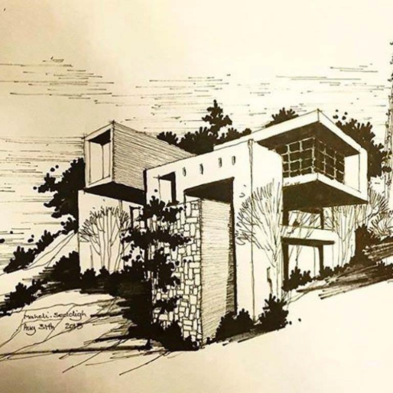 363建築設計師手稿作品