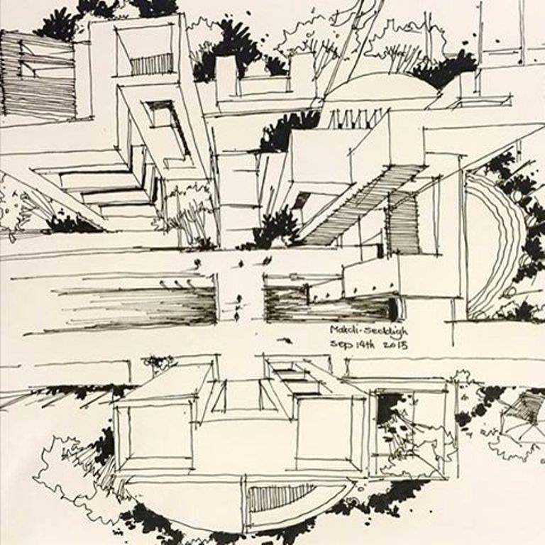 382建築設計師手稿作品