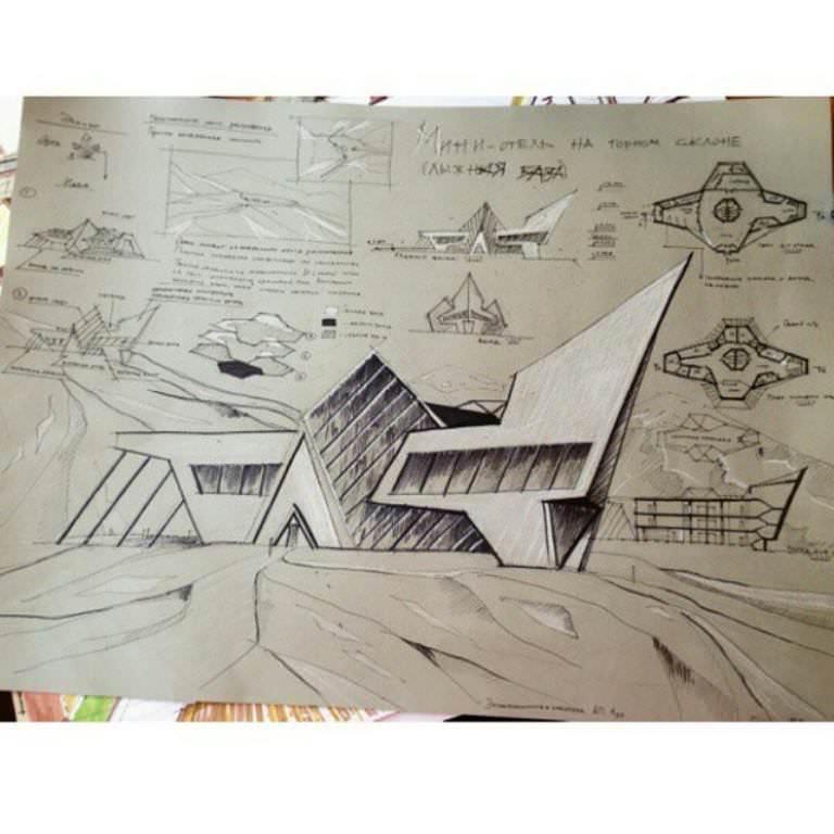 407建築設計師手稿作品