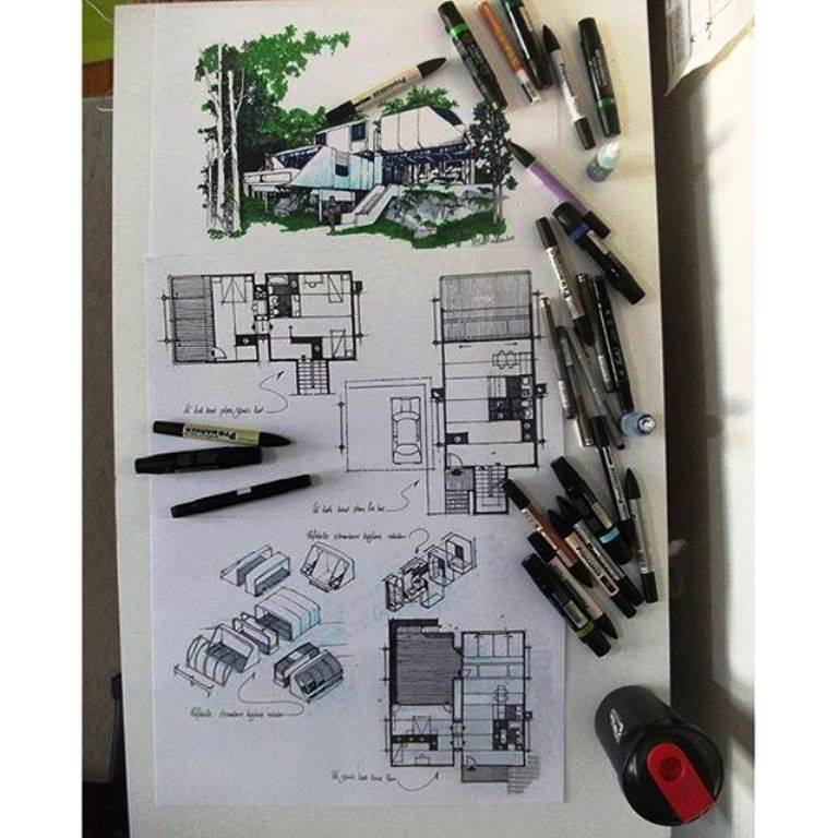 408建築設計師手稿作品