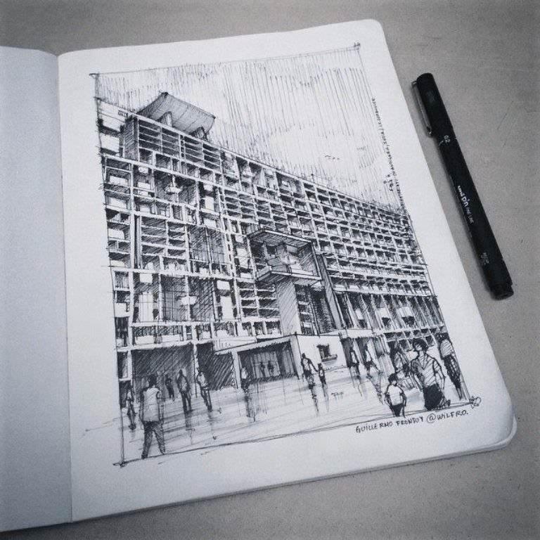 425建築設計師手稿作品