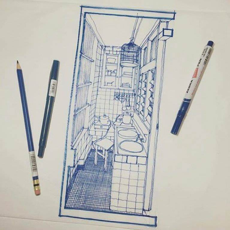 427建築設計師手稿作品