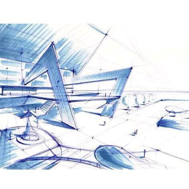 428建築設計師手稿作品