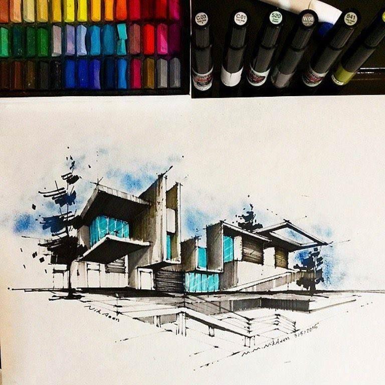 447建築設計師手稿作品
