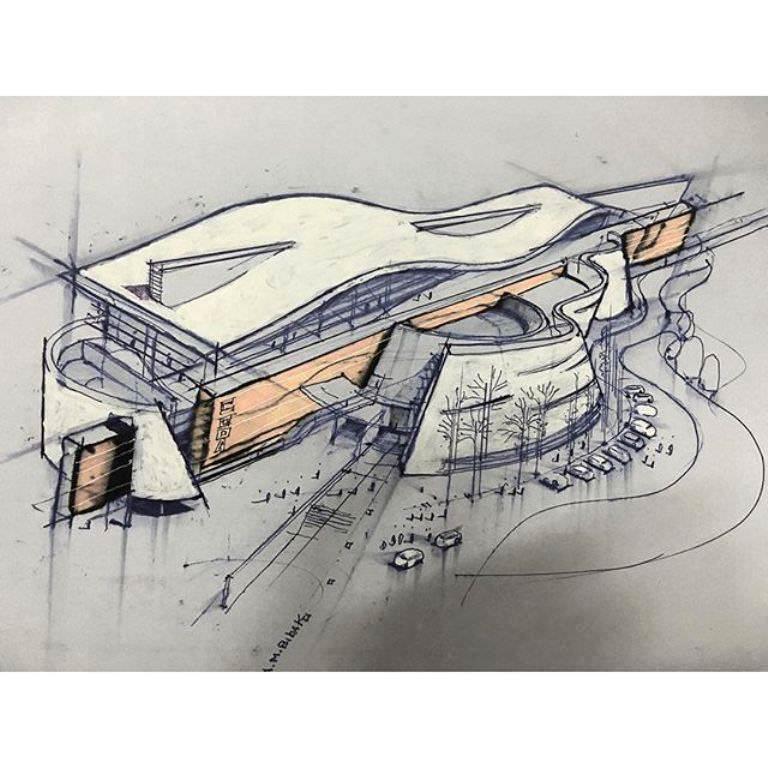 455建築設計師手稿作品