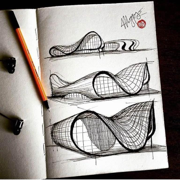 459建築設計師手稿作品