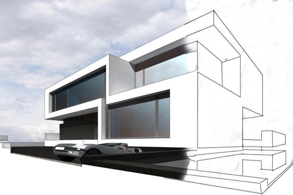 464建築設計師手稿作品