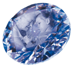 藍色骨灰鑽石