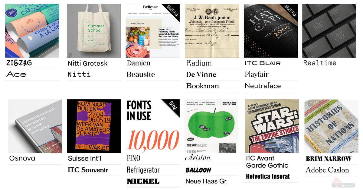 fontsinuse編排設計品的字型