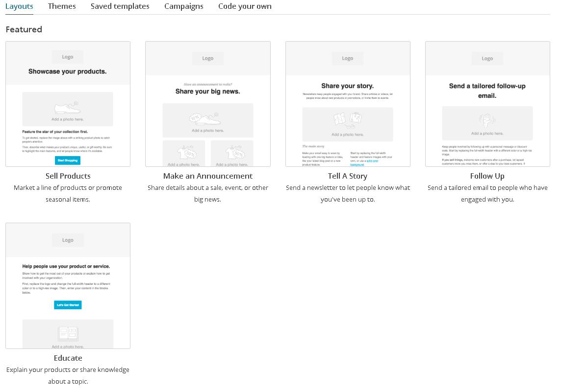 mailchimp版型