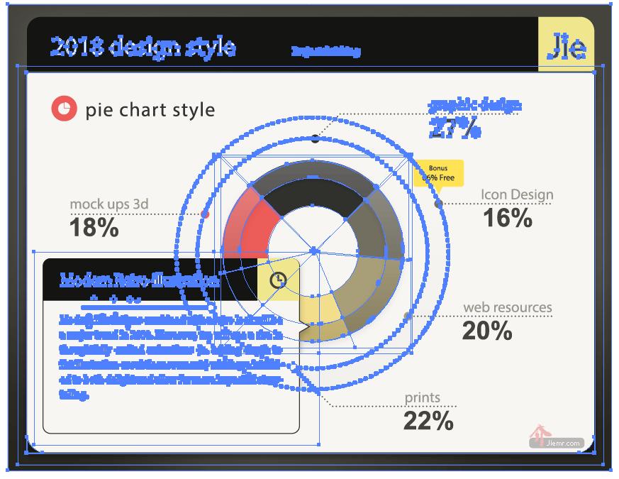 PDF檔文字建立外框曲線後的畫面