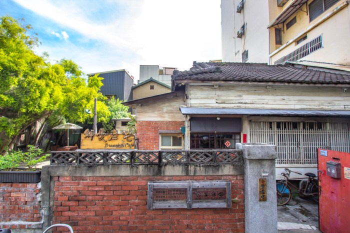 台中西區,鬧中取靜隱身市場的百年日式平房-解憂老宅,吃正餐或點心都可以。