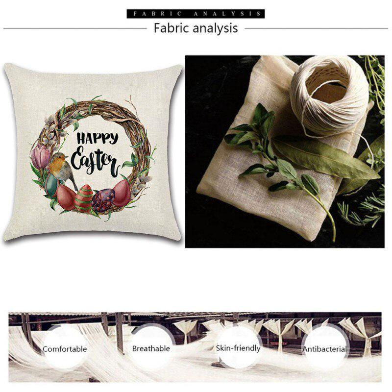 happy egg rabbit flower basket linen digital printing pillow cover decorative pillow cushion covers pillowcase cushions for sofa buy at a low prices