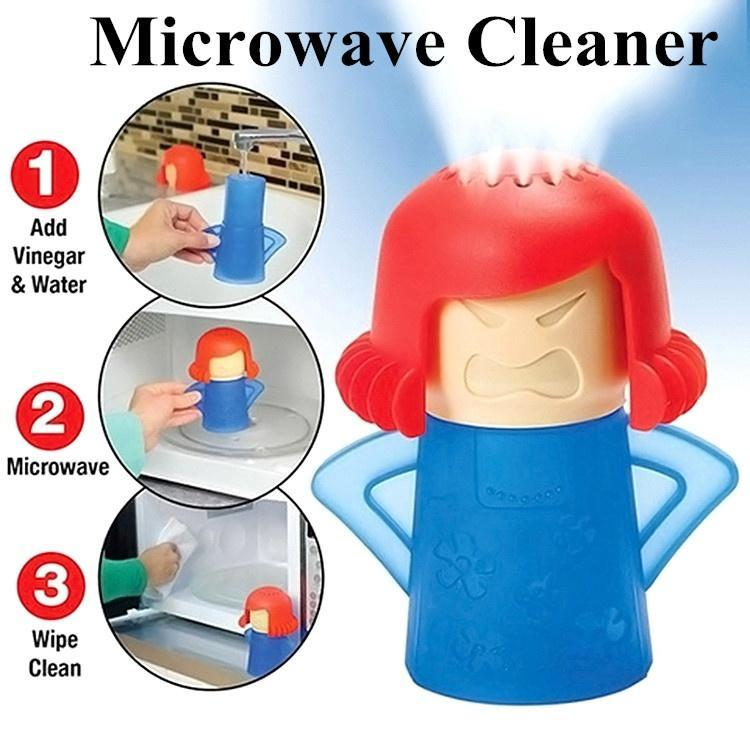 microwave oven steam cleaner angry mama vinegar water cleaning tool with pattern