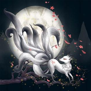 """Buy 5D DIY Diamond Painting Cross Stitch """"Nine-tailed Fox"""" Diamond Embroidery Mosaic Home Decor Crafts at affordable prices — free shipping, real reviews with photos — Joom"""