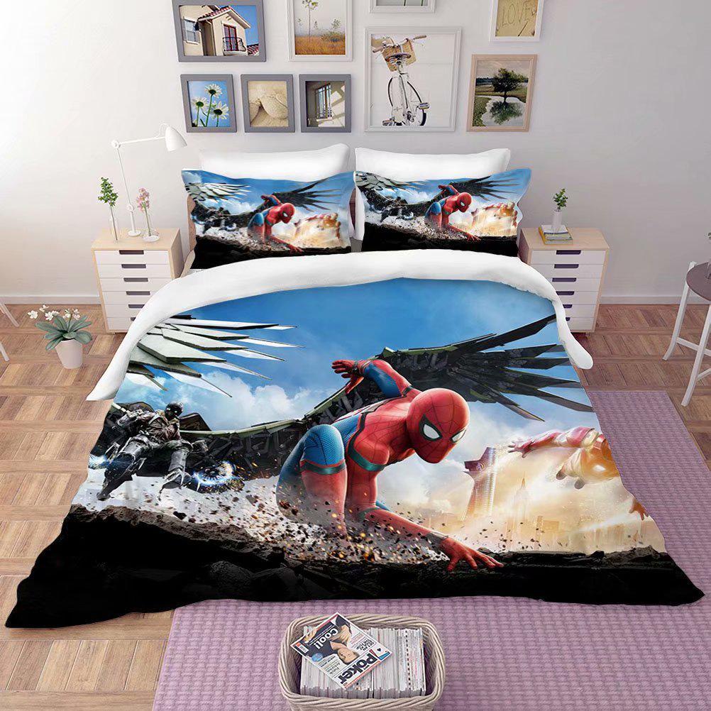 spiderman bedline set marvel spider man blanket duvet pillow cover 3d printed bedding set