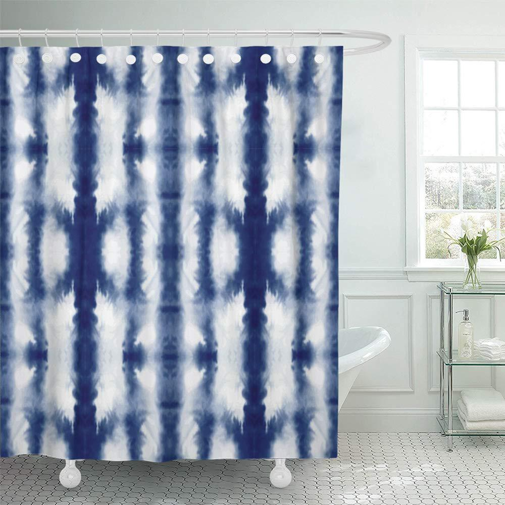 swimwear tie dye shibori ink japanese modern batik watercolor endless abstract china bath shower curtain 66x72inch 165x180cm